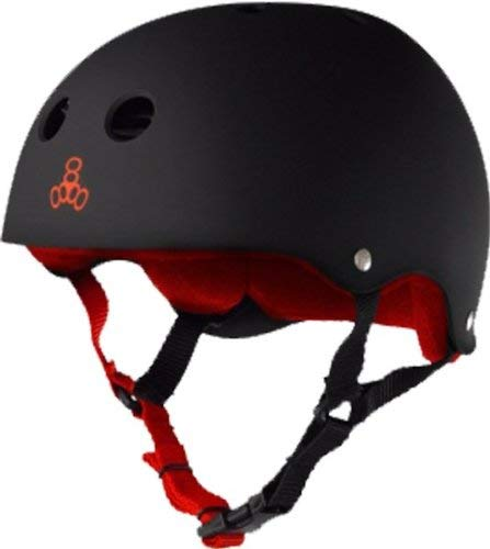 Triple 8 Helmet Black Rubber/Red XXL