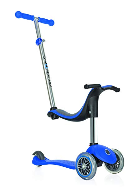 Globber Evo 3 Wheel 4-in-1 Convertible Scooter (Blue)